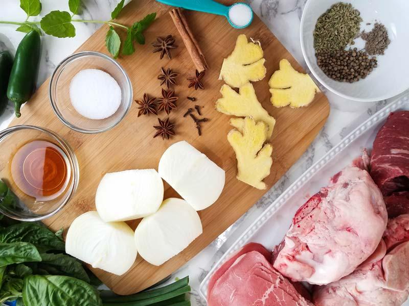 ingredients used in beef pho