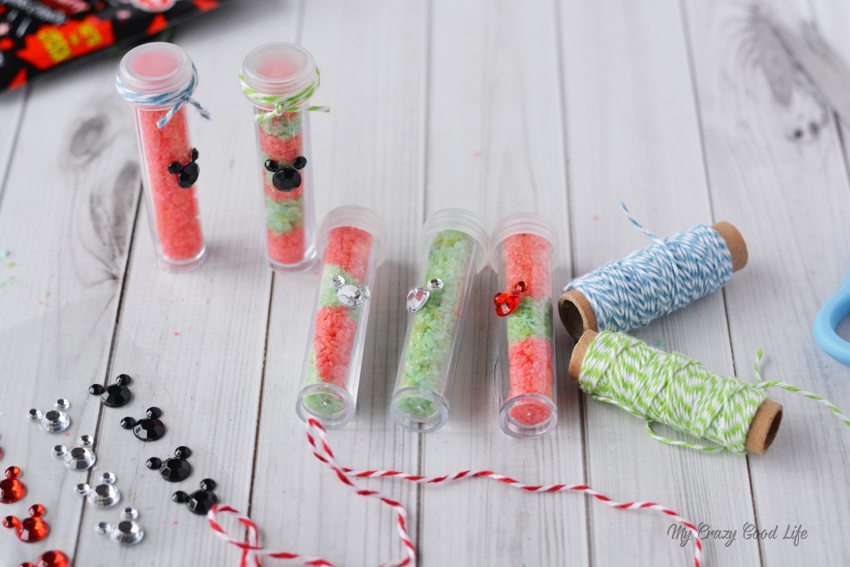 These DIY Fish Extenders are perfect for your next Disney Cruise! Vials full of edible pixie dust are perfect to give to little girls or families on a Disney Cruise.