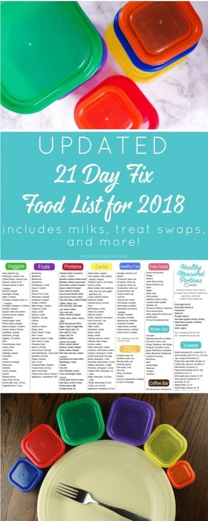 I've created a complete updated food list that includes the basic 21 Day Fix food list, the Shakeology and protein shake bases (your 21 Day Fix milk options), free foods, and all of your 21 Day Fix treat swap options. Enjoy! #21dayfix #beachbody #foodlist #21DayFix