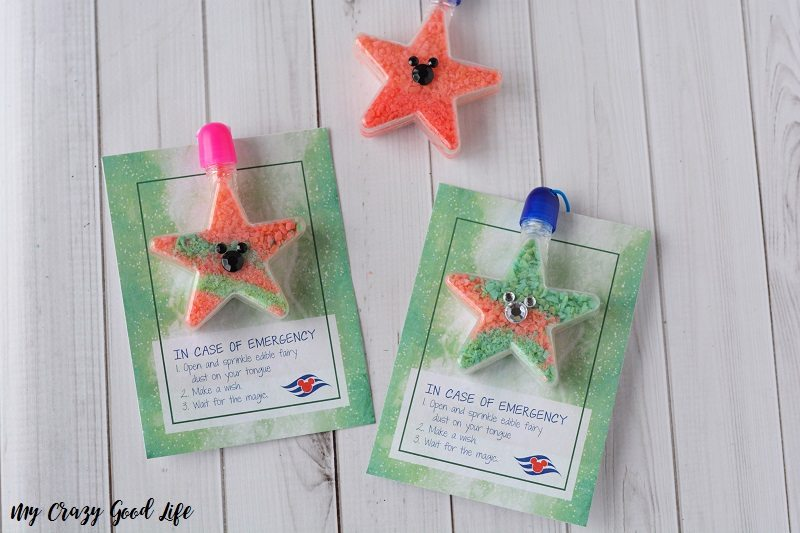This Edible Fairy Dust Necklace craft is the perfect Disney Cruise Fish Extender gift, and so easy to make! Also great for a fairy party!