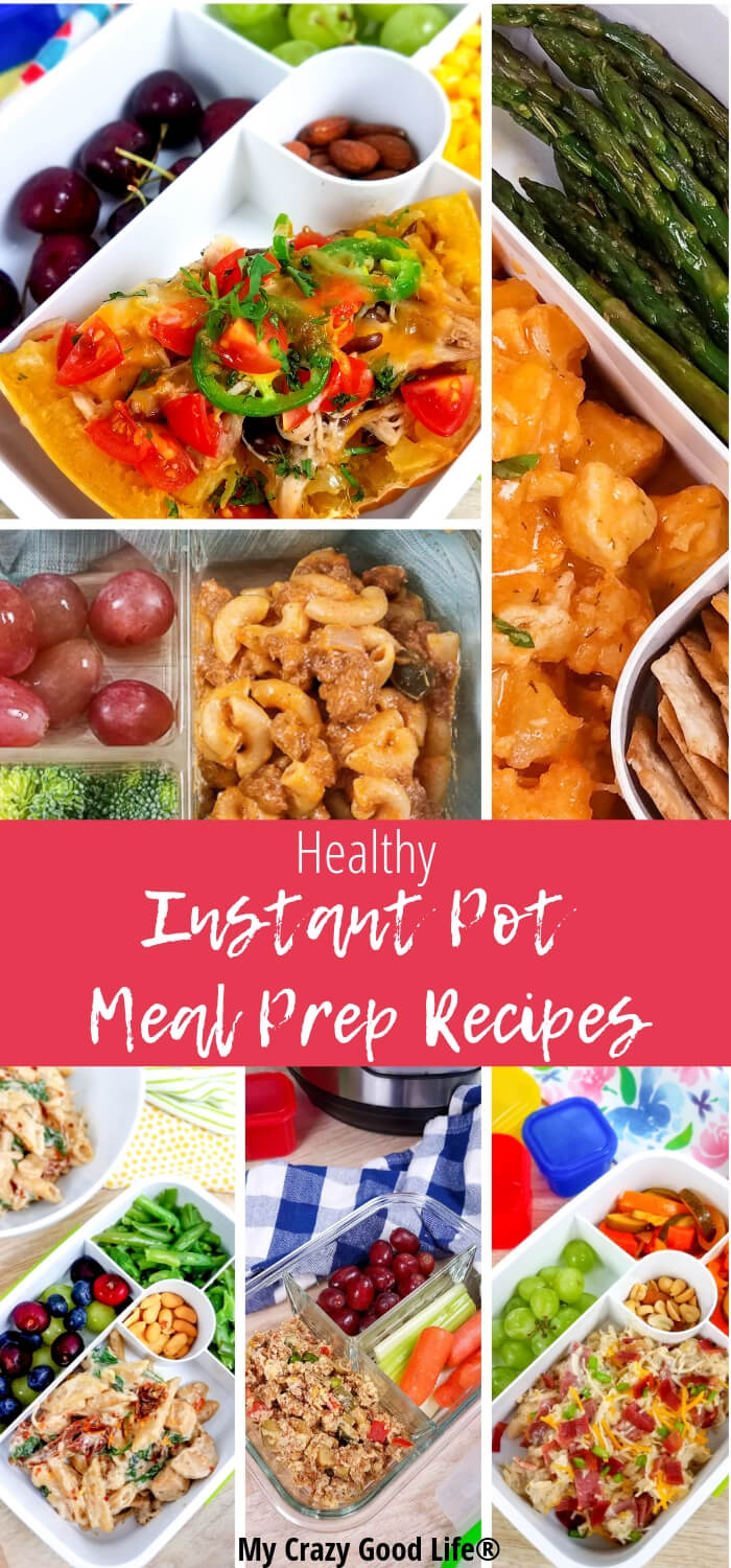 These Healthy Instant Pot Meal Prep recipes are delicious and easy to freeze! Breakfast, lunch, and dinner recipes included and they contain whole foods, no highly processed ingredients, and whole grains. Healthy Recipes | Instant Pot Healthy Recipes | Instant Pot Meal Prep
