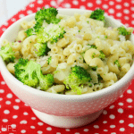 One of our favorite recipes is this easy to make Parmesan Pasta Salad with Broccoli. It's perfect for bringing to a backyard barbecue or baby shower!