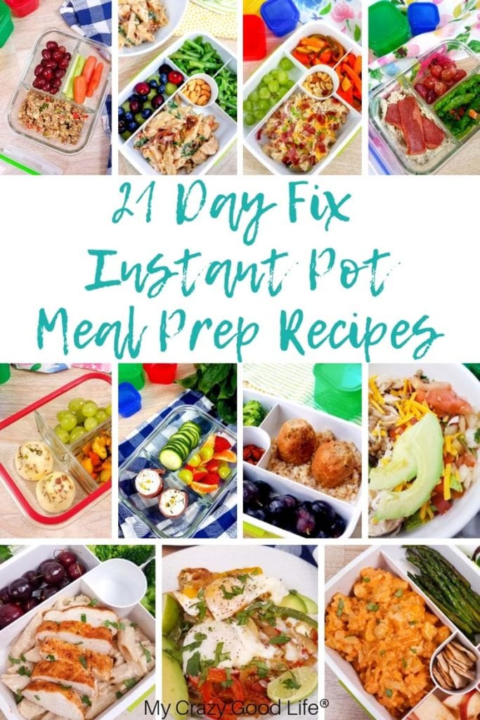 collage of 21 day fix instant pot recipes