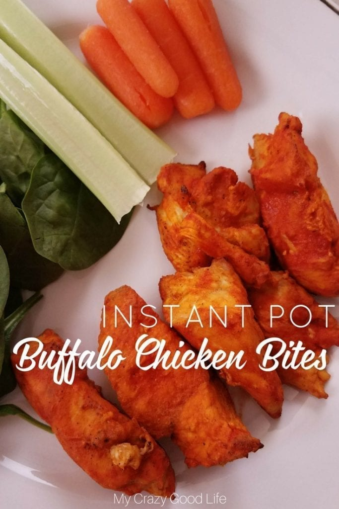You're going to love these Instant Pot Buffalo Chicken bites! They're an easy Instant Pot dinner that can be prepared from frozen in about 20 minutes!