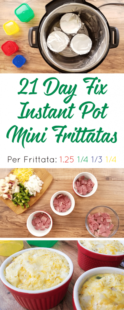 This Instant Pot Frittata is great for a crowd–customize your mini-frittata! A delicious 21 Day Fix breakfast, this frittata is also 21 Day Fix friendly!