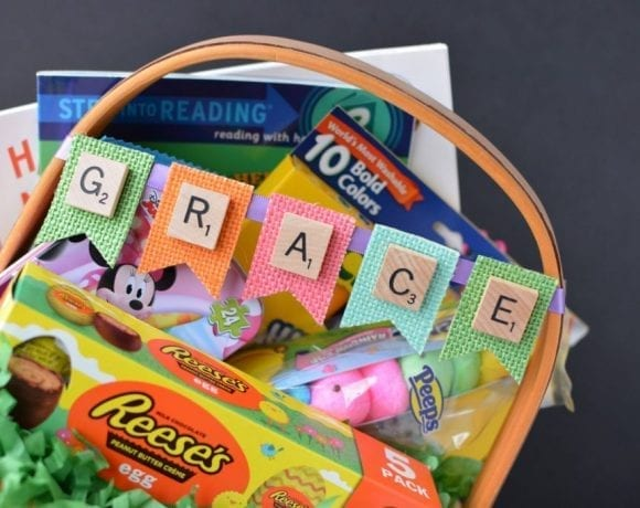 Customized Easter Baskets | Scrabble Tile Crafts