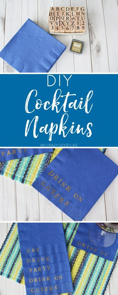 Make beautiful DIY cocktail napkins for everyday use or your next party or event! Everyone will love the added touch and you can unwind while crafting.