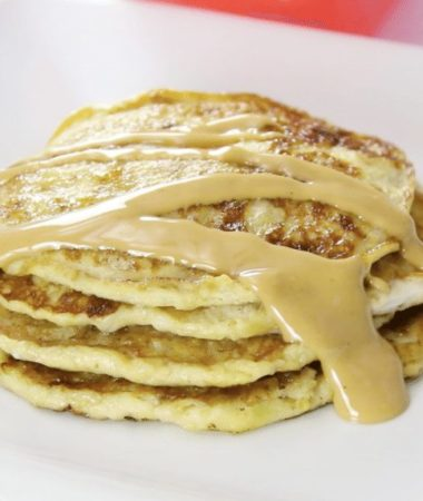 This 2 Ingredient Banana Pancake Recipe is delicious and such an easy healthy breakfast recipe. The 2 ingredient pancakes use only banana and egg, and cook in minutes.