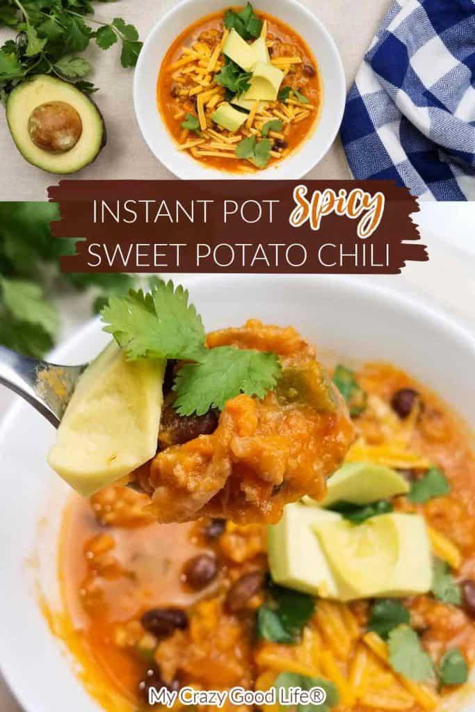 Instant Pot Spicy Sweet Potato Chili pin