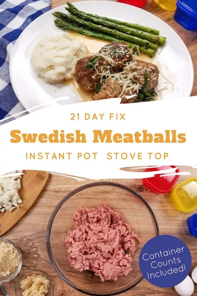 This easy Swedish Meatballs recipe is a classic! You can use the Instant Pot or your stove to make my healthy Swedish Meatballs. This is a family friendly 21 Day Fix dinner recipe! #21dayfix #beachbody #healthyrecipes