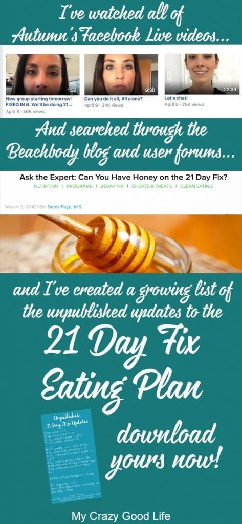 Struggling to find the Unpublished 21 Day Fix foods lists? I've searched the YouTube videos, the Facebook Live videos, and the blogs to bring it to you.