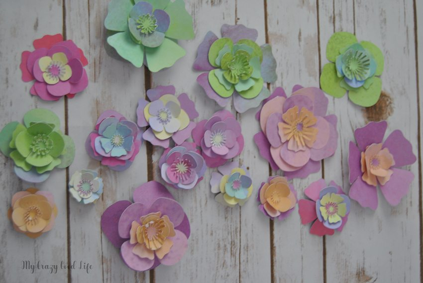 How to Make Cricut Paper Flowers | Cricut Paper Crafts | My Crazy ...