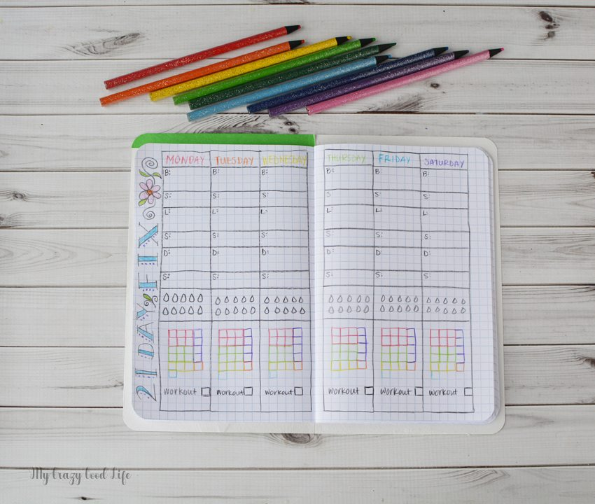 Looking for a way to log your containers or daily events? This DIY Bullet Journal is a creative way to track your day! Using a 21 Day Fix Bullet Journal is a fun way to stay on course for weight loss and better eating!