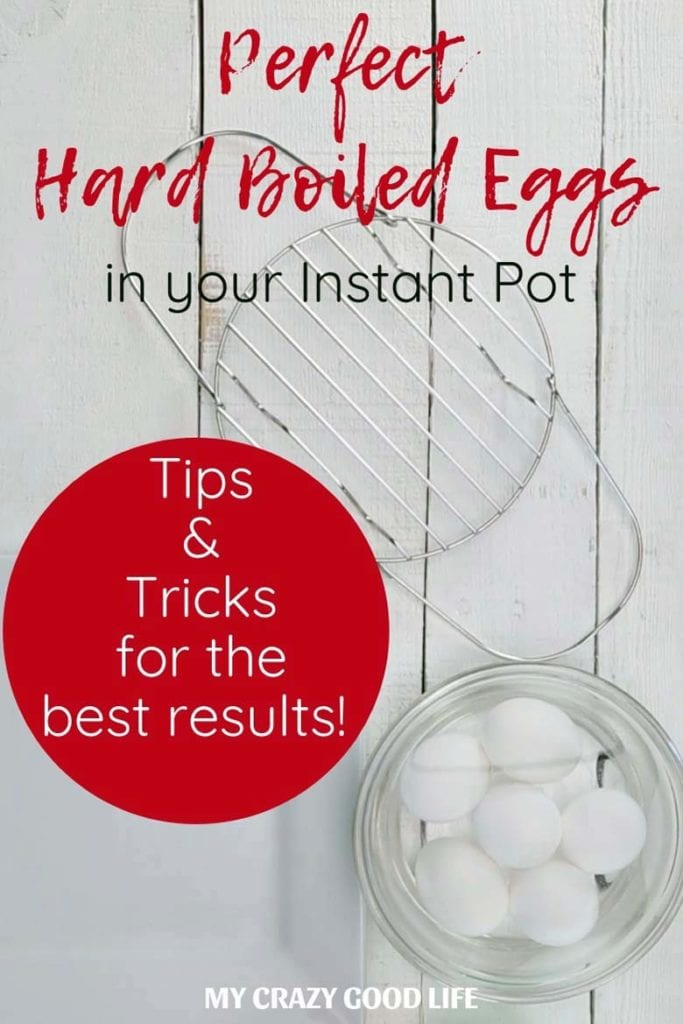 Wondering how to make hard boiled eggs in your Instant Pot? I've done it many, many times and am sharing my hard boiled egg tips and tricks as well as a hard boiled egg video to help you make perfect Instant Pot hard boiled eggs! #instantpot #pressurecooking #mealprep