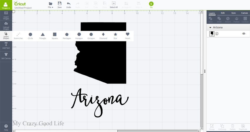 How To Slice In Cricut How To Slice In Design Space My Crazy