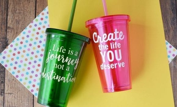 Vinyl Craft Idea | DIY Vinyl Cups