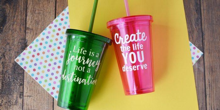 Vinyl Craft Idea | DIY Vinyl Cups