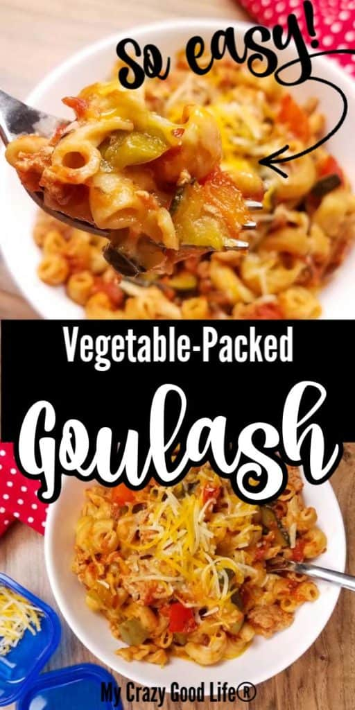 collage image of goulash with text for pinterest