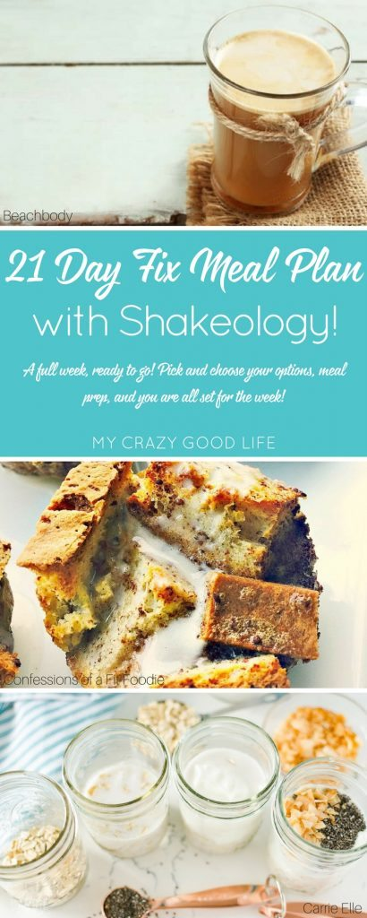 A 21 Day Fix Meal Plan with Shakeology is perfect for those of us on the go. Replacing one meal, snack, or dessert a day with Shakeology is quick and easy.