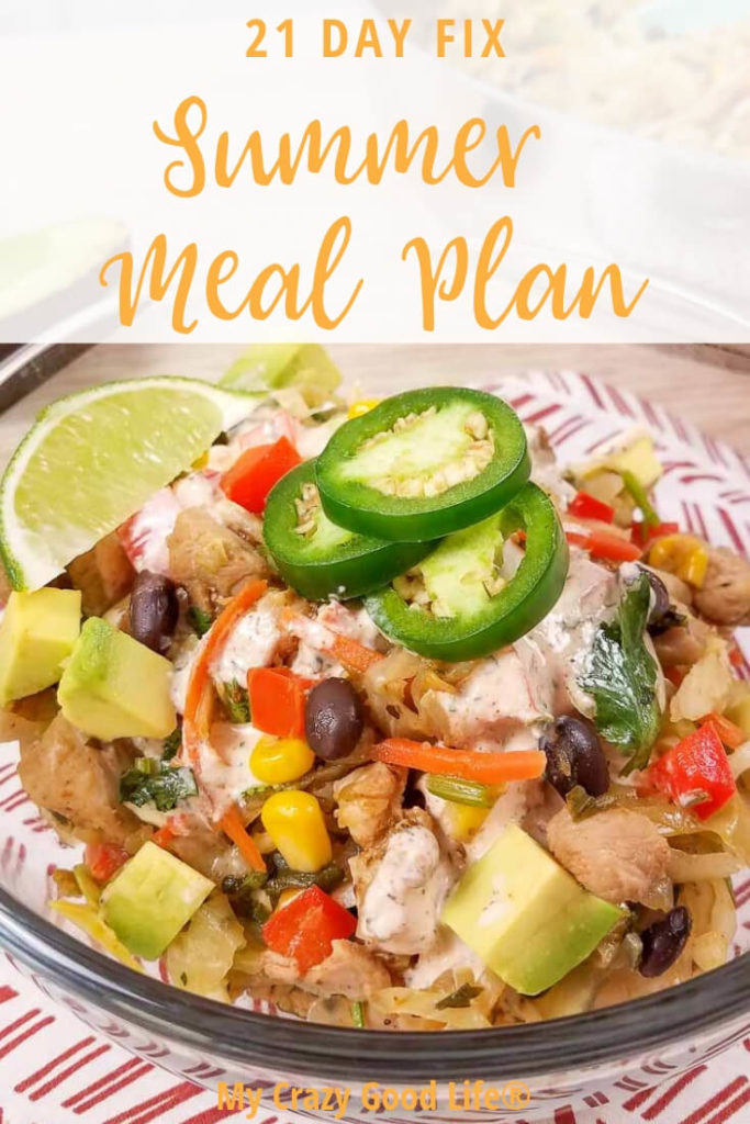 Summer is a great time to get started on a new and healthy lifestyle. There's plenty of sunshine and beautiful days to get out and exercise, and eating healthy will be easier than ever with this 21 Day Fix Summer Meal Plan.