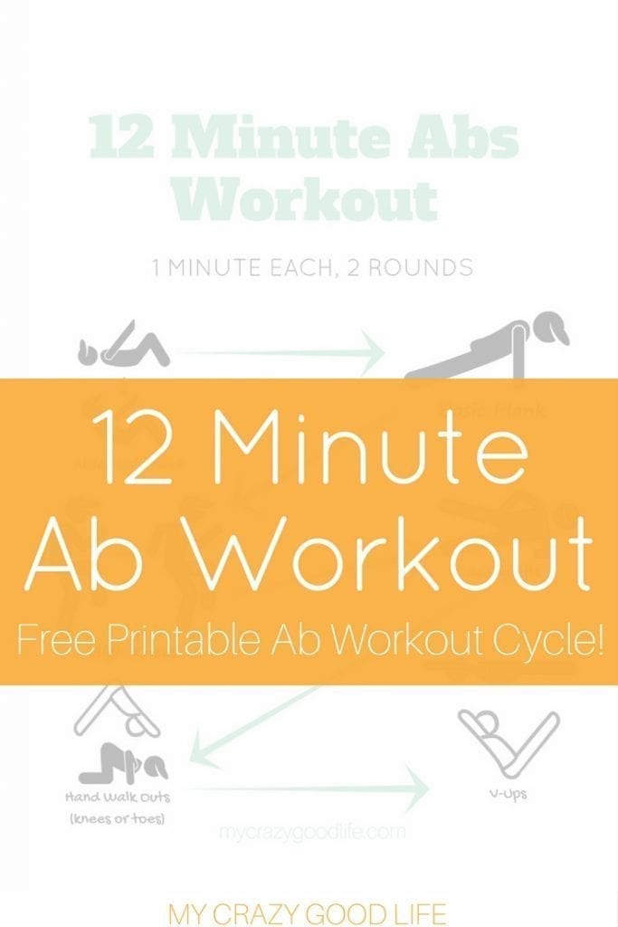 This 12 minute Ab Workout is perfect for a no equipment needed 30 Day Ab Challenge. I love doing 30 day workout challenges with my friends–we keep one another inspired and accountable! #30daychallenge #abs #workout