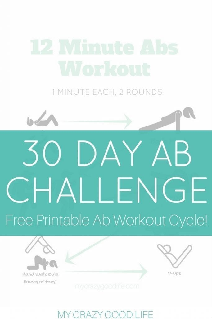 This 12 Minute Ab Workout is perfect for the 30 Day Ab Challenge. You can get toned and defined abs before swimsuit season arrives! Core Challenge | 30 Day Challenge