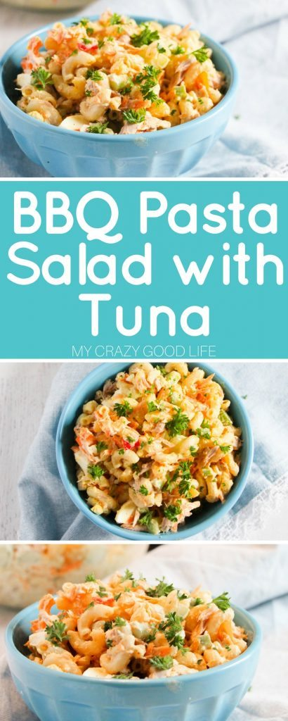 Before you know it Summer will be here, it's time for some delicious recipes for those backyard get togethers! This BBQ Pasta Salad with Tuna is perfect.