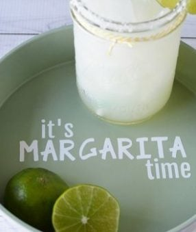 A DIY Margarita Drink Tray is easy to make and it is perfect for serving up your favorite cocktails! Try out this Margarita Drink Tray craft!