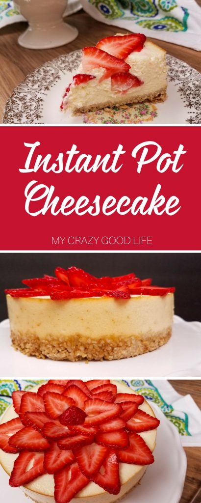 Instant Pot cheesecake is quick, easy, and delicious. This is a healthier cheesecake recipe that is perfect for diets and the 21 Day Fix!
