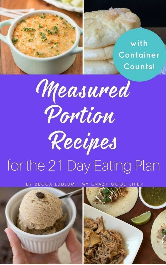 Get all of your favorite 21 Day Fix recipes in an easy to print document with this Measured Portion Recipes eBook!