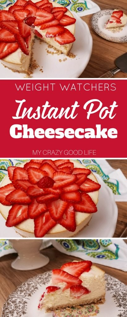 Instant Pot cheesecake is quick, easy, and delicious. This is a healthier cheesecake recipe that is perfect for 21 Day Fix and Weight Watchers! Weight Watchers Cheesecake | WW Cheesecake | Weight Watchers Desserts | WW Desserts