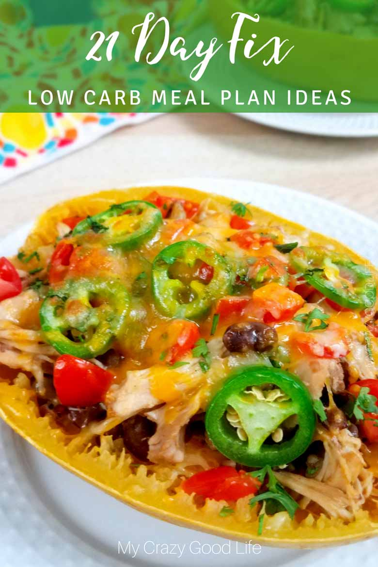 These 21 Day Fix Low Carb Meal Plan Ideas are perfect for those who are trying to eat carbs only at certain times of the day. #21dayfix #beachbody #2bmindset