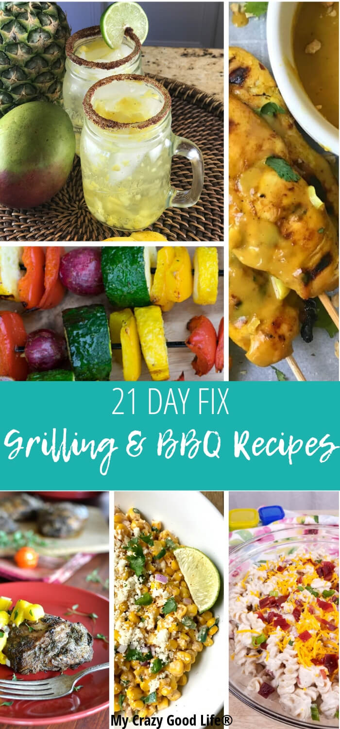 It's always a great time for these 21 Day Fix grill recipes. Stay healthy this summer with these delicious healthy grill recipes. Main dishes, BBQ side dishes, and skinny cocktails! 21 Day Fix Grilling | Portion Fix Grill Recipes