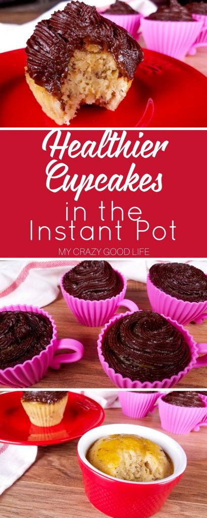 These Instant Pot cupcakes are so delicious you won't even believe that they're also 21 Day Fix cupcakes. One recipe to satisfy your healthy sweet tooth!