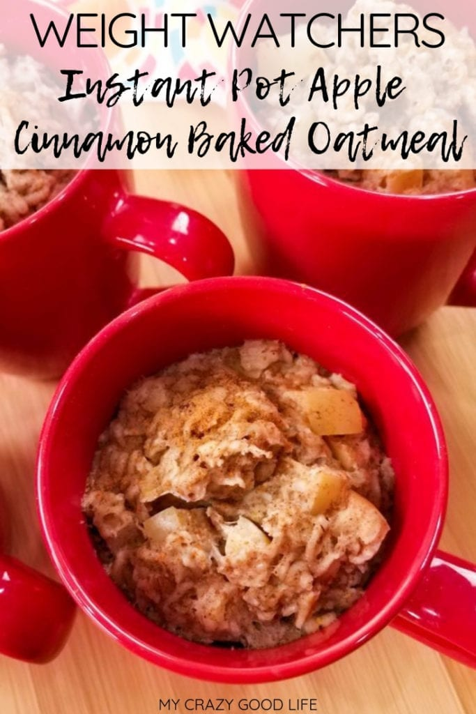 I love these Instant Pot Apple Cinnamon Baked Oatmeal cups! Such a great 21 Day Fix breakfast on the go recipe–and so easy to prep ahead! #21dayfix #2bmindset #healthybreakfast #healthy