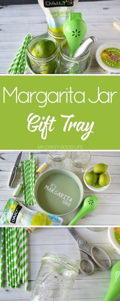 It's no secret how I feel about margaritas right? Well this margarita jar gift tray is the perfect DIY project for margarita lovers everywhere!