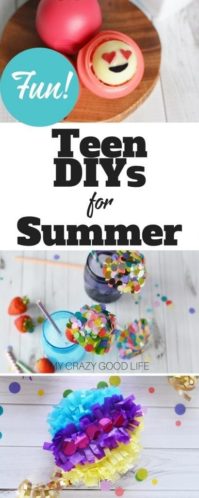 Today I've got a great list for you, it's packed full of teen DIYs for summer. These are projects your teen can do with or without you!