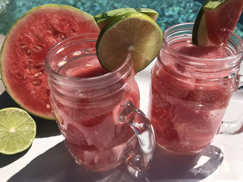 A 100 calorie watermelon margarita is crisp, refreshing, and easy to make. It's great after a long day, also perfect for those poolside afternoons and more!