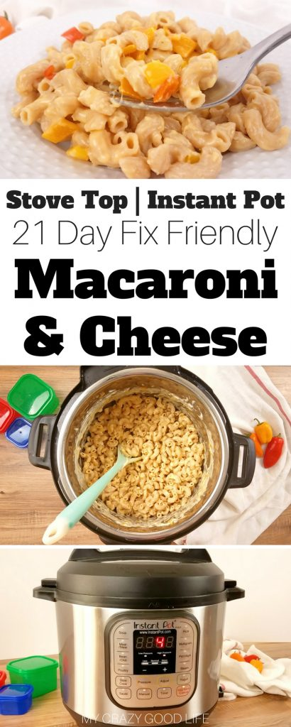 Instant Pot macaroni and cheese is easy to make, creamy, and super delicious! The whole family will love this recipe | 21 Day Fix macaroni and Cheese | Healthier Macaroni and Cheese