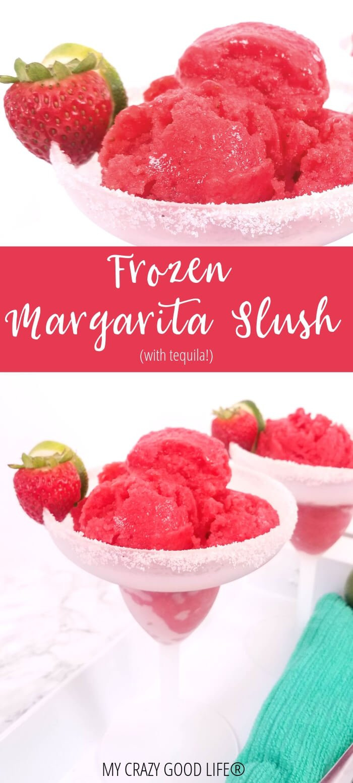 collage of frozen margarita slush