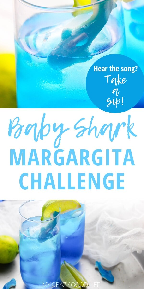 The Baby Shark Margarita Challenge is the only way we are going to get through this viral video craze–come on, invite some friends over and have some fun.