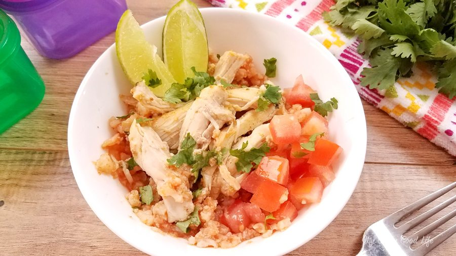 Instant Pot Spanish Rice with Chicken | 21 Day Fix Spanish Rice with Chicken | Cauliflower Spanish Rice
