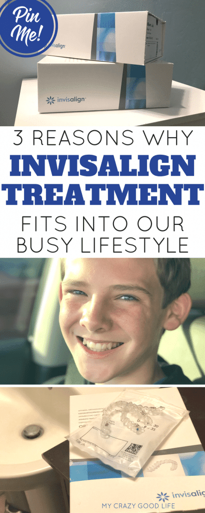 Invisalign treatment is perfect for busy teens–no monthly appointments for tightening or repairs, just start a new aligner every week and you're good to go!