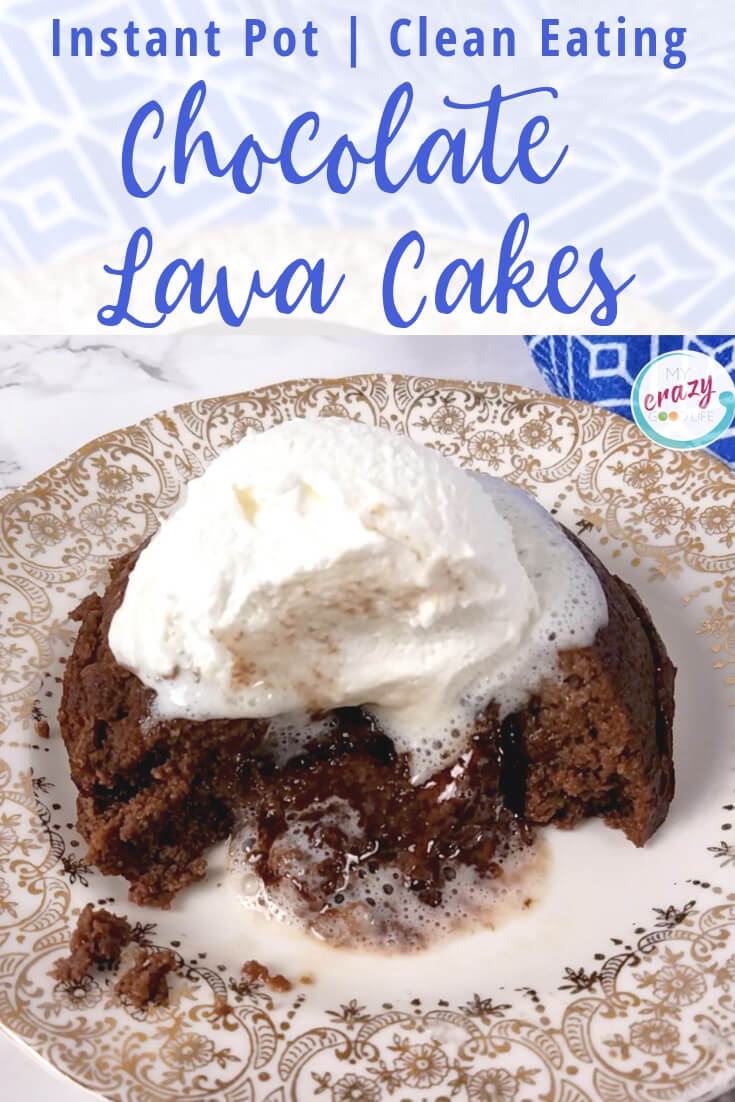 image with text of lava cakes and ice cream