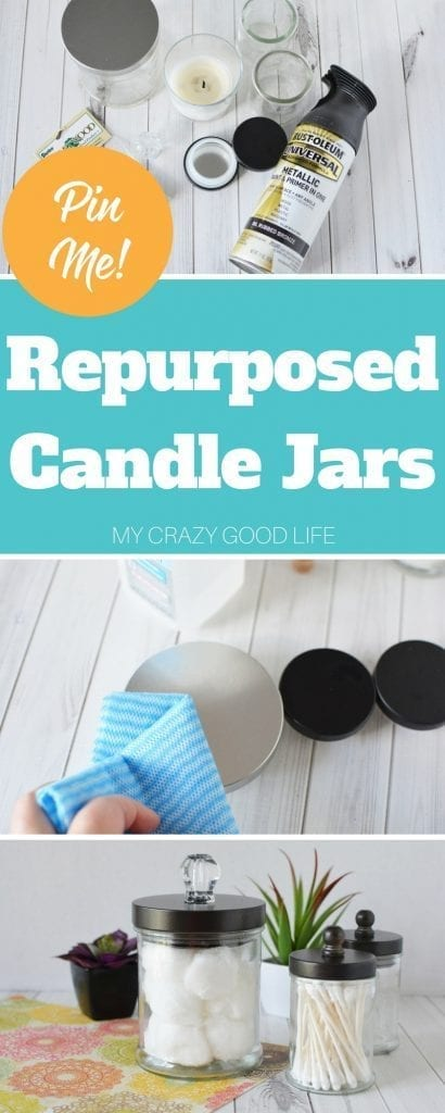 Repurposed candle jars are a fun way to turn them into something new! This fun and easy DIY project is calling for you! Craft Project | Easy Craft | Fun DIY