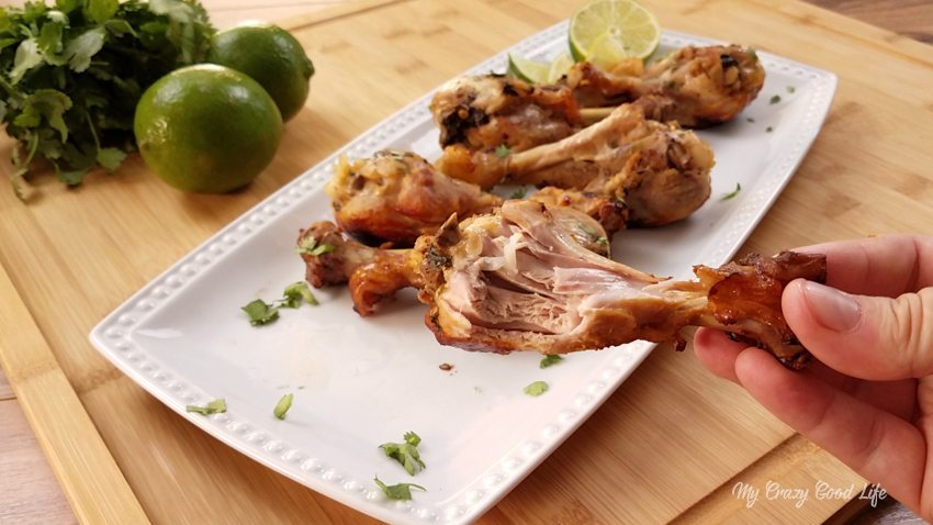 Instant Pot Cilantro Lime Chicken Drumsticks | Instant Pot Drumsticks
