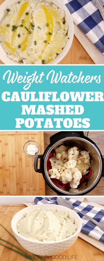 You can't go wrong with these delicious cauliflower mashed potatoes. The perfect Thanksgiving side dish, this mashed cauliflower is a healthier mashed potato recipe. 21 Day Fix Mashed Cauliflower | Weight Watchers Mashed Cauliflower