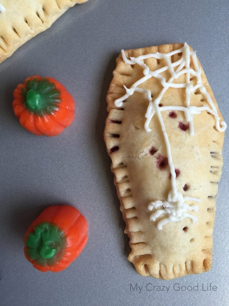 Coffin Shaped Homemade Pop Tarts | Halloween Recipes for Kids