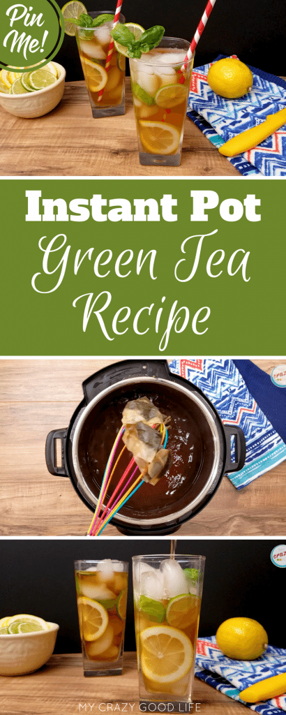 Making Instant Pot Green Tea is super easy! I'm giving you all of the directions for Basil Lime Green Tea in the Instant Pot!