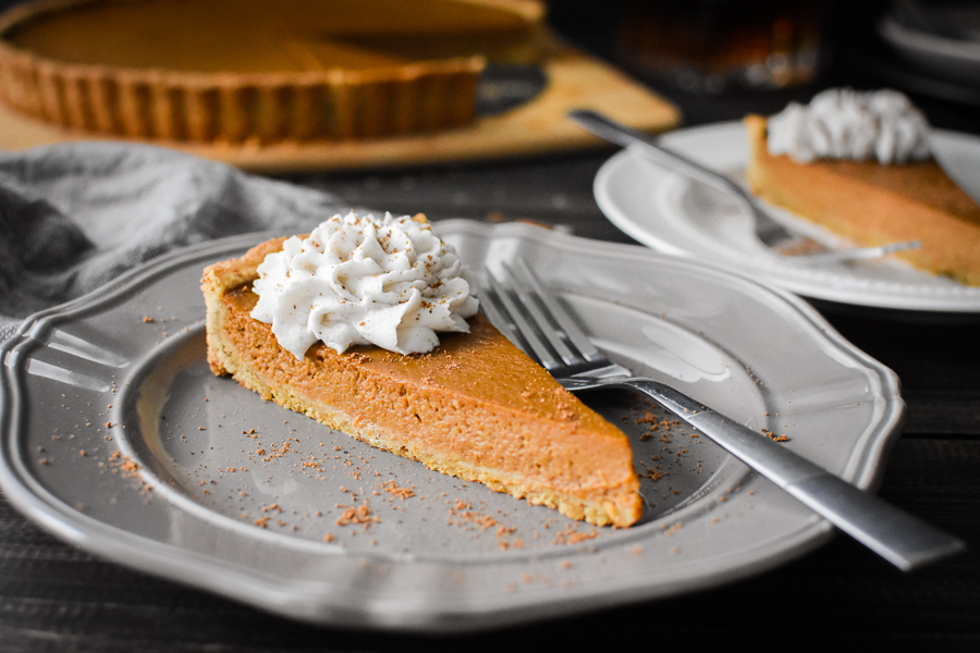 Pumpkin Custard Tart - The Foodie and the Fix